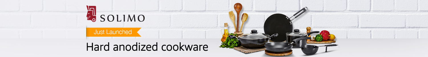 Just launched: Hard anodized cookware from Solimo