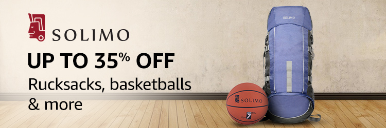 Up to 35% off: Rucksacks, basketballs & more from Solimo