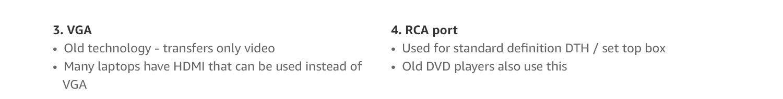 VGA & RCA ports