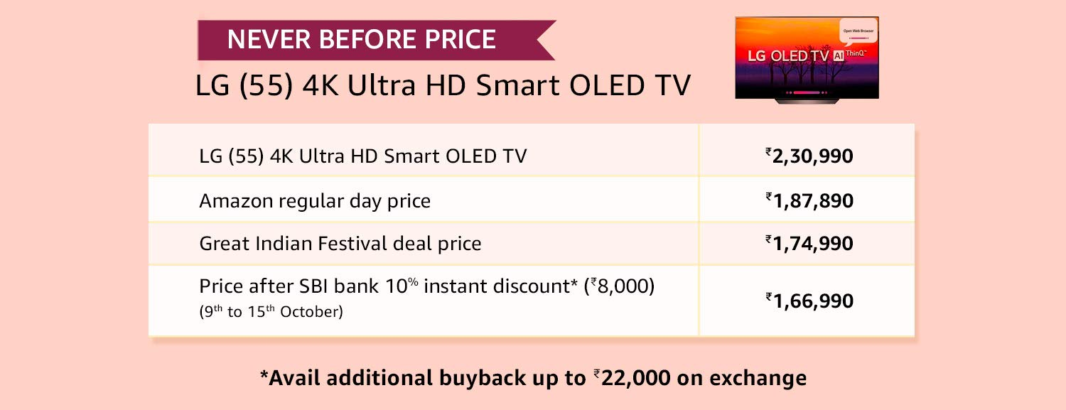 Never before price - LG TV