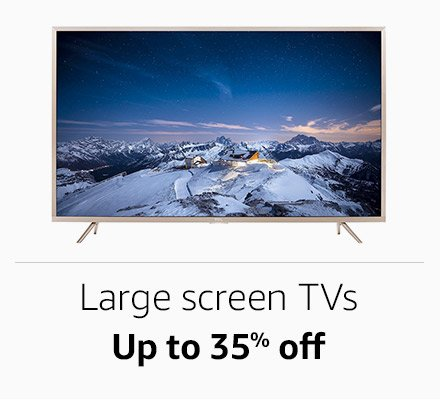Large screen tvs