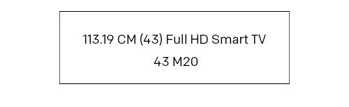 (43) Full HD Smart TV