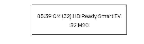 (32) HD Ready Smart TV