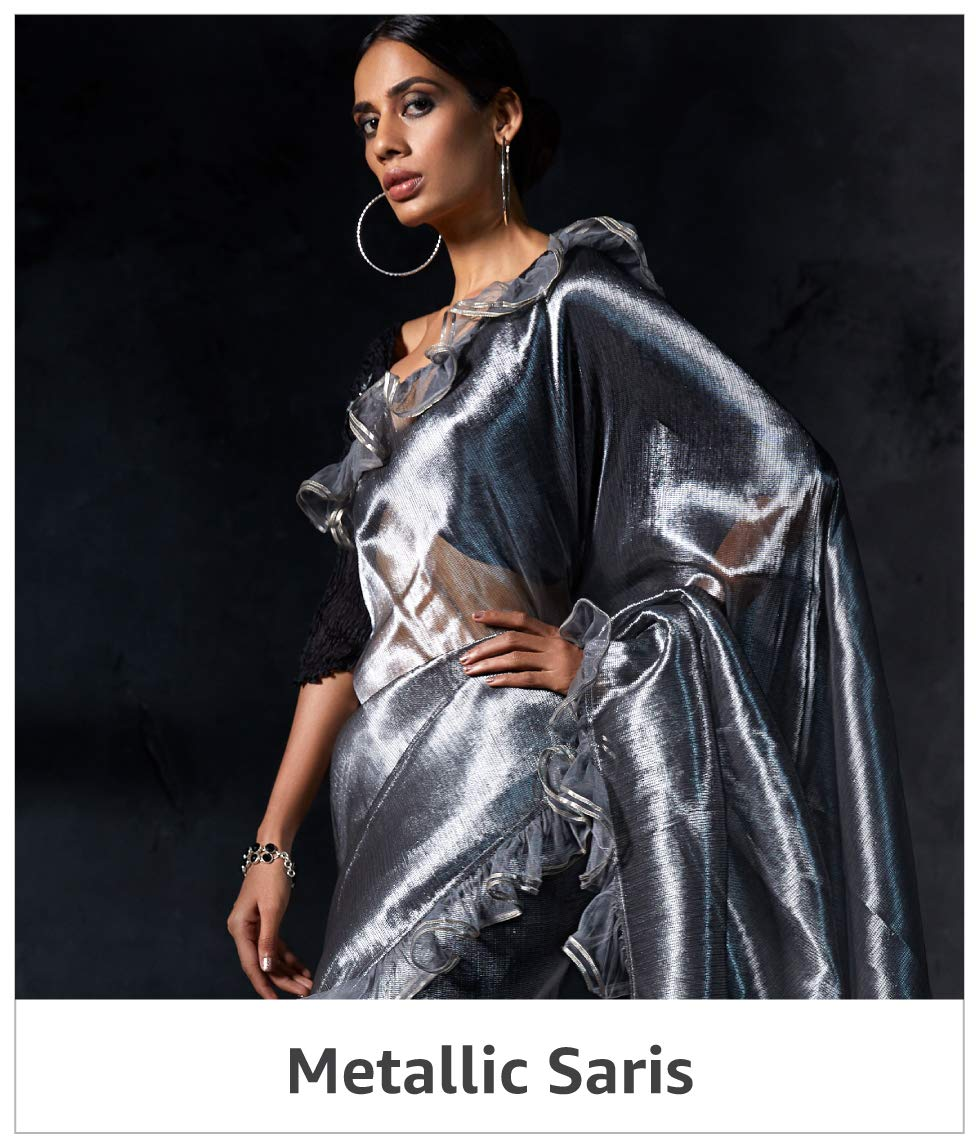 Metallic Saris
