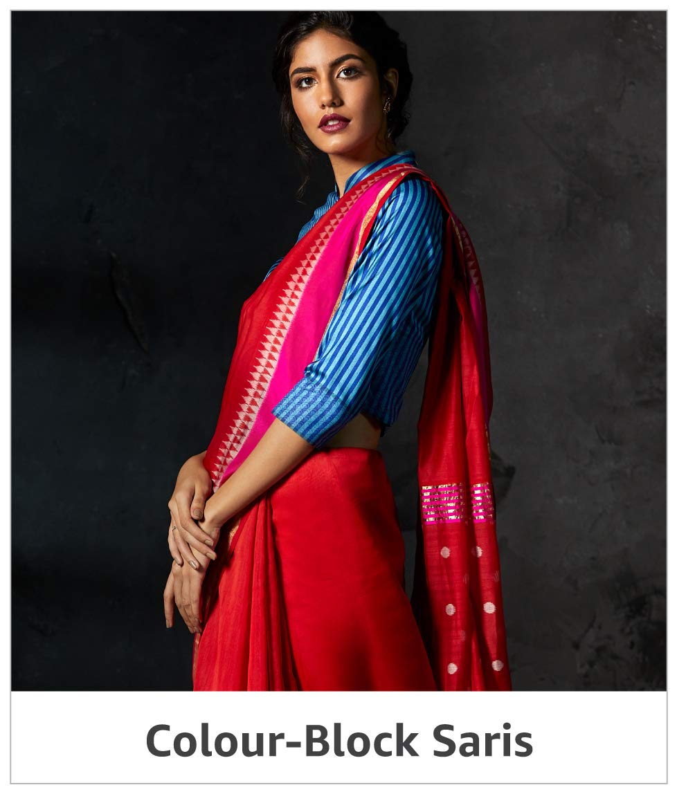 Color Block Saris
