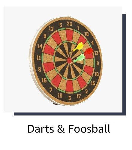Darts and foosball