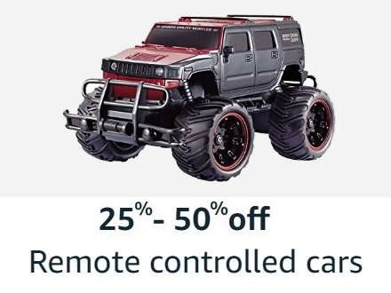 25%-50% off remote controlled cars