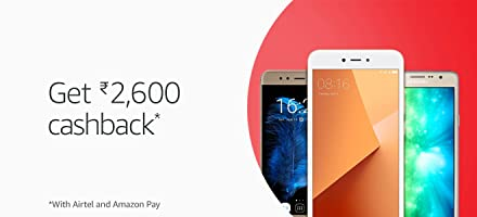 Get ₹2,600 cashback* with Airtel and Amazon Pay