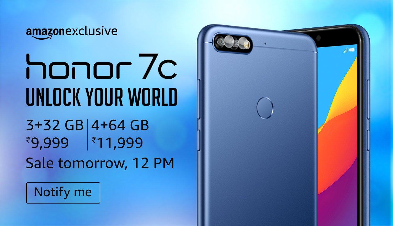 Honor 7C, 3GB RAM, 32GB ROM, 5.99-inch