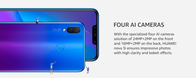 Four AI cameras