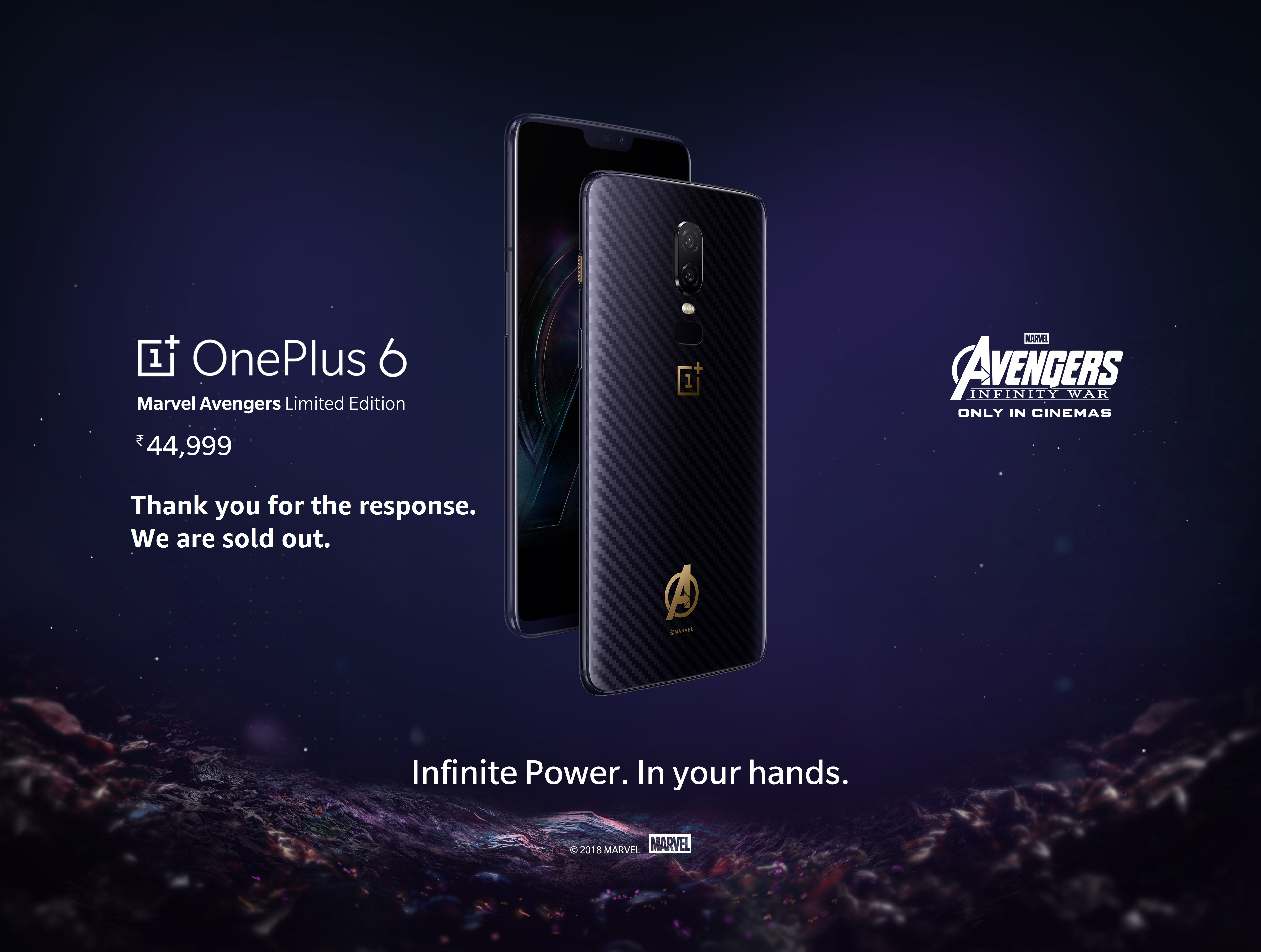 online store 00294 d1515 Amazon.in: OnePlus 6: Marvel Avengers Limited Edition