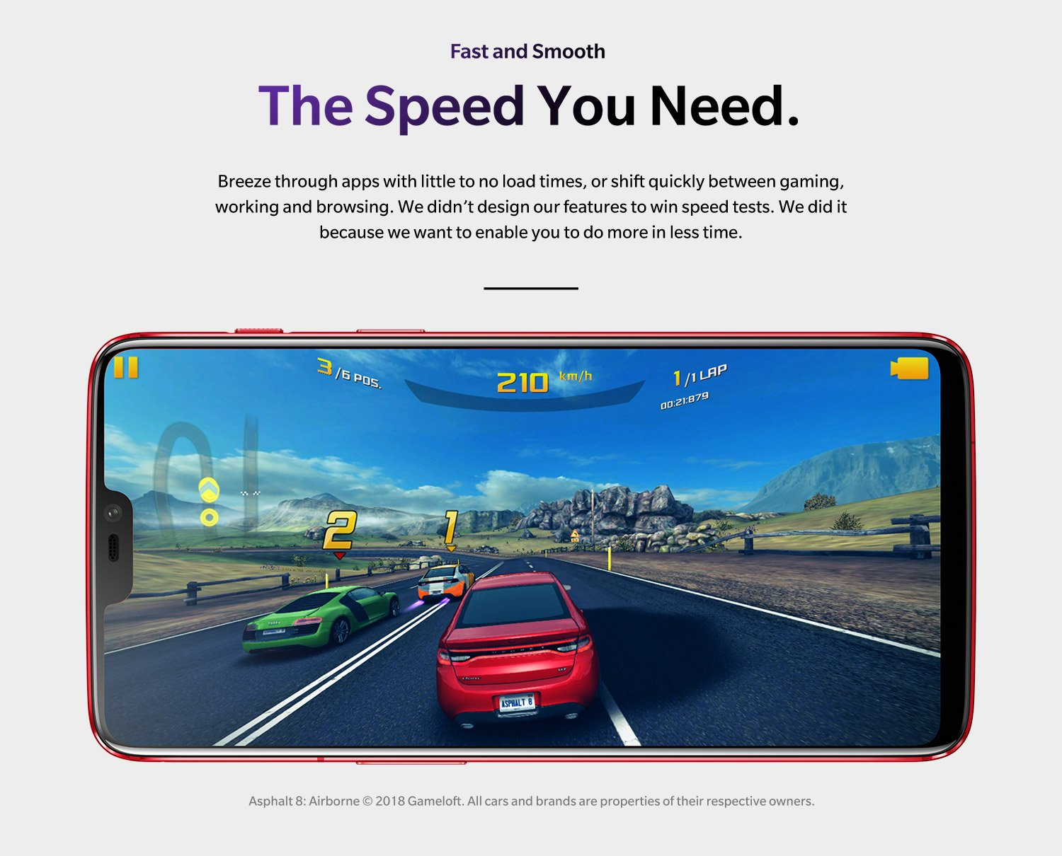 Speed you need