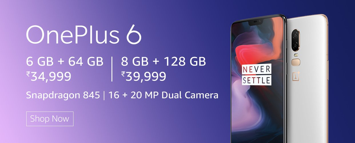OnePlus 6: OnePlus 6 Specifications, Features at Amazon in