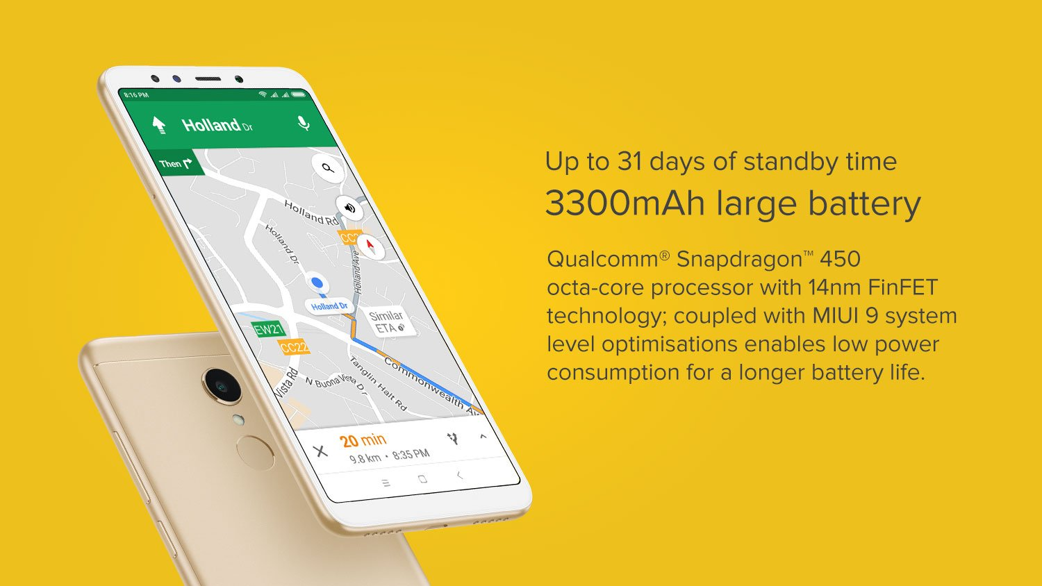 3300 mAH large battery