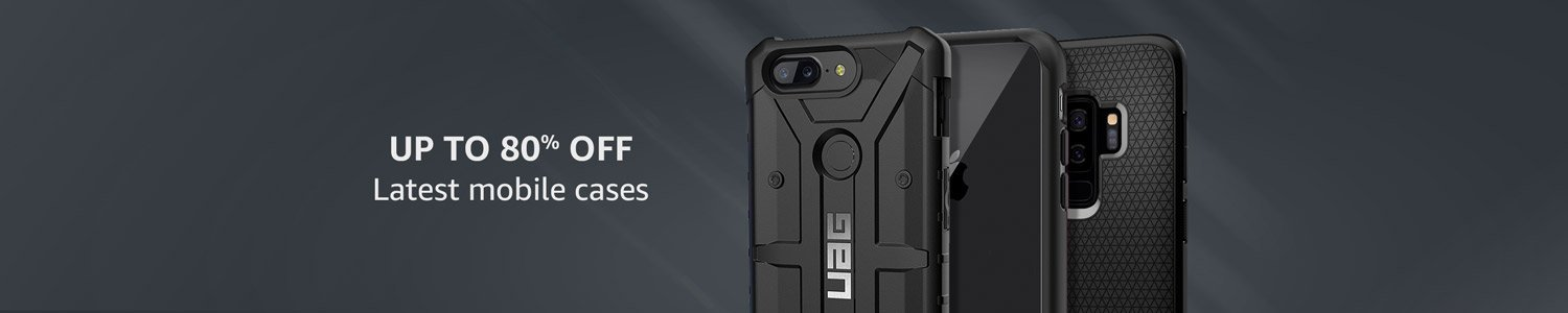 Up to 80% off on latest mobile cases