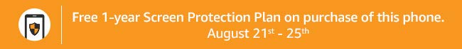 Free 1-year screen protection plan