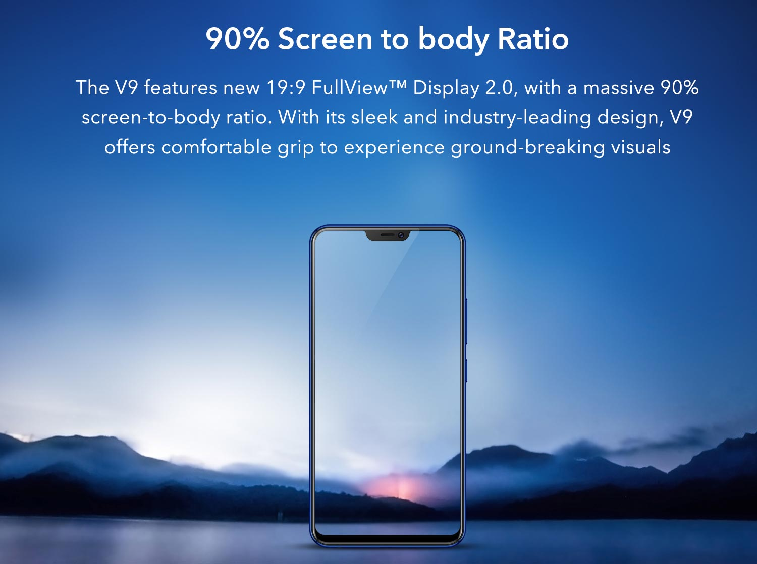 90% screen to body ratio