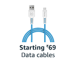 Data cables, starting ₹69