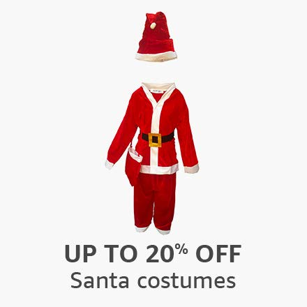 Up to 20% off: Santa costumes