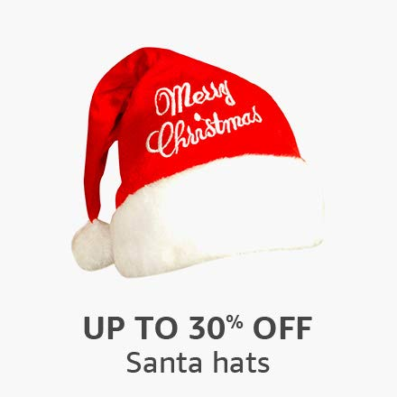 Up to 30% off: Santa hats