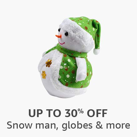 Snow man, globes and more