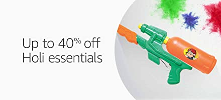 Up to 40% off : Holi essentials