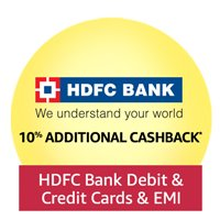 Additional 10% cashback with HDFC debit & credit cards