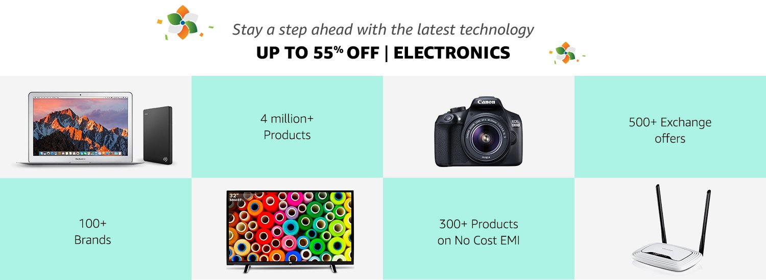 Up to 55% off Electronics