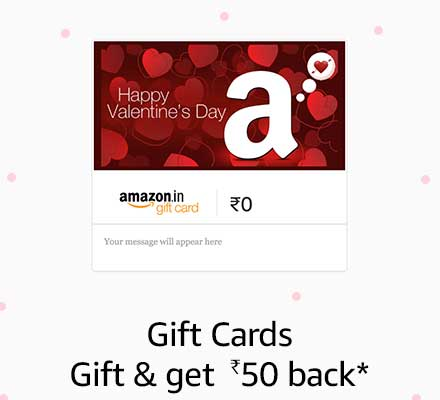 Gift Cards Get Rs 50 back