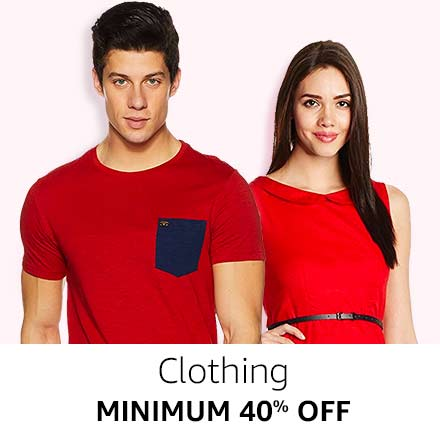 Minimum 40% off Clothing