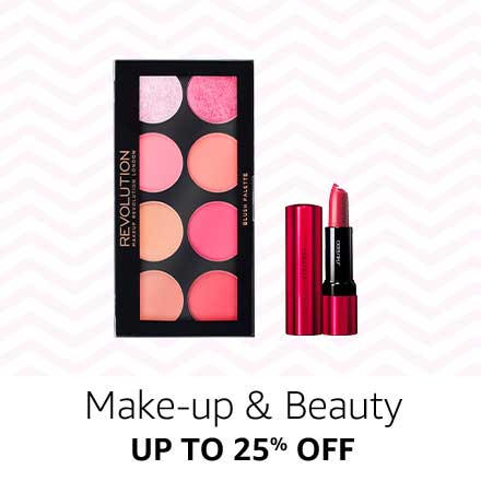 Up to 25% off Make up & Beauty