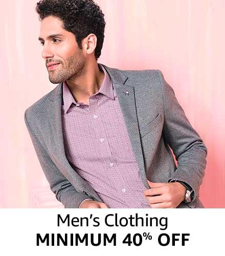 Minimum 40% off Men Clothing