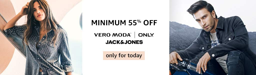 Minimum 55% off on Veromod and Flat 60% off Jack&Jones Clothing only today