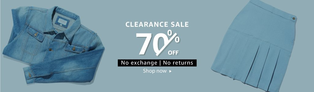 Flat 70% off | No exchange, No returns
