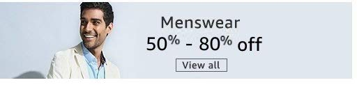 Menswear 50% - 80% off