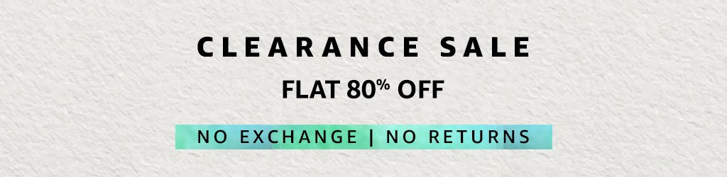 Clearance Sale - Flat 80% off