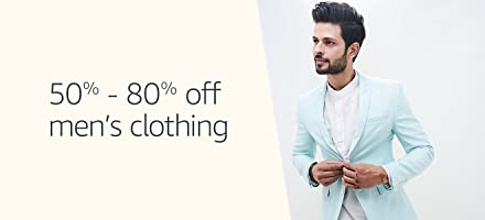 50% - 80% off men's clothing