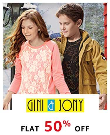 Gini & Jony: Flat 50% off