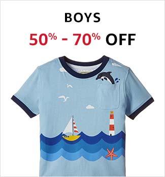 Boys Clothing: 50-70% off