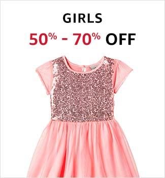 Girls: 50%- 70% off
