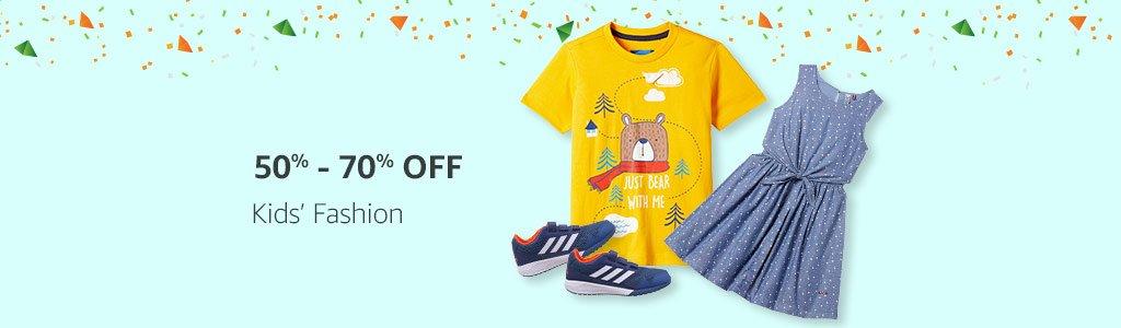Kids' Fashion: 50% - 70% off