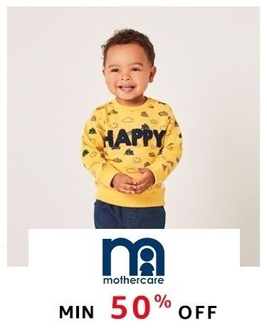 Mothercare: Min 50% off