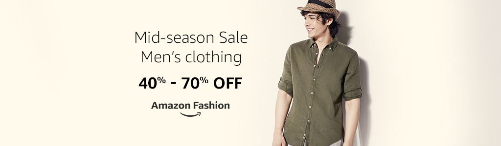 Get upto 40% to 70% off on Mens Wear