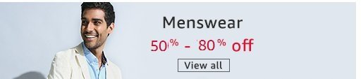 Menswear 50% - 80% off