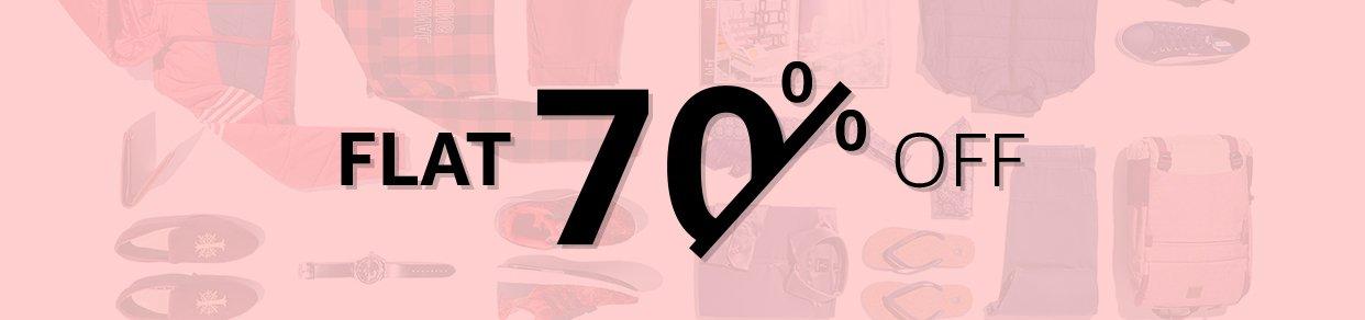 Flat 70% Off