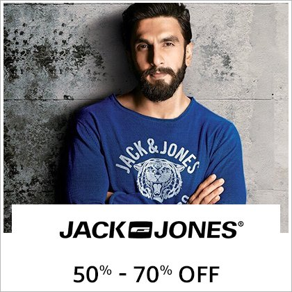 Jacks & Jones: 50% -70% off