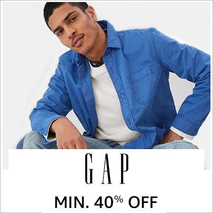 GAP: Minimum 40% off