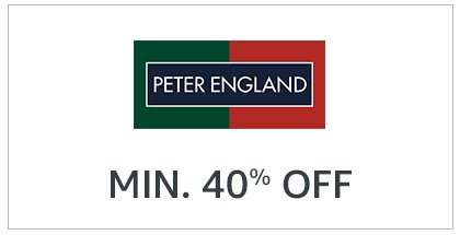 Peter England: Minimum 40% off