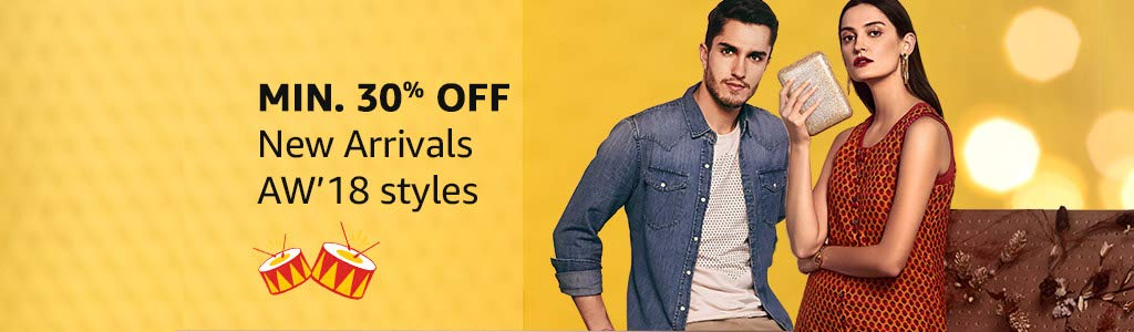Min. 30% Off On New Arrivals