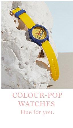 Colour-pop watches
